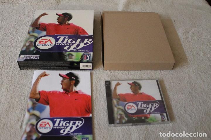 Videojuegos y Consolas: TIGER WOODS 99 PGA TOUR GOLF PC BOX CAJA CARTON - Foto 2 - 103881435