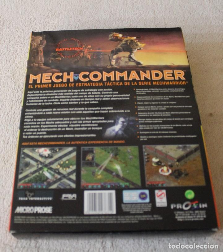 Videojuegos y Consolas: MECH COMMANDER PC BOX CAJA CARTON - Foto 3 - 103881743