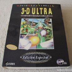 Videojuegos y Consolas: MINIGOLF & PINBALL 3-D ULTRA DE LUXE PC BOX CAJA CARTON. Lote 103882019