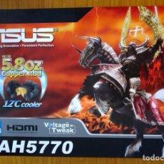 Videojuegos y Consolas: TARJETA GRÁFICA: ASUS EAH5770 512MB GDDR5. Lote 104595227