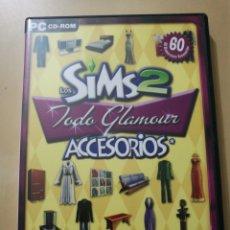 Videojuegos y Consolas: JUEGO PC EXPANSIÓN LOS SIMS 2, TODO GLAMOUR ACCESORIOS. Lote 178909513