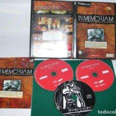 Videojuegos y Consolas: JUEGO PC INMEMORIAM PARA PC MAC CD ROM. Lote 105368111