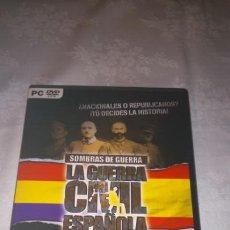 Videojuegos y Consolas: SOMBRAS DE GUERRA: LA GUERRA CIVIL ESPAÑOLA. JUEGO PC.. Lote 105936699