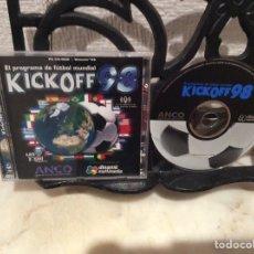 Videojuegos y Consolas: KICKOFF 98 TODO EL FUTBOL DEL PLANETA - JUEGO PARA PC. Lote 107706359