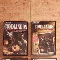 Videogiochi e Consoli: PC CD-ROM JUEGO COMMANDOS LOTE 4 VIDEOJUEGOS COMPLETO PYRO STUDIOS. Lote 115503079