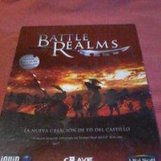 Videojuegos y Consolas: BATTLE REALMS JUEGO DE PC FORMATO BIG BOX PC BOX CAJA CARTON. Lote 109148199