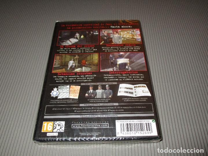 Videojuegos y Consolas: SHERLOCK HOLMES CONTRA JACK EL DESTRIPADOR - PC DVD ROM - PRECINTADO - FOCUS - Foto 2 - 109931299