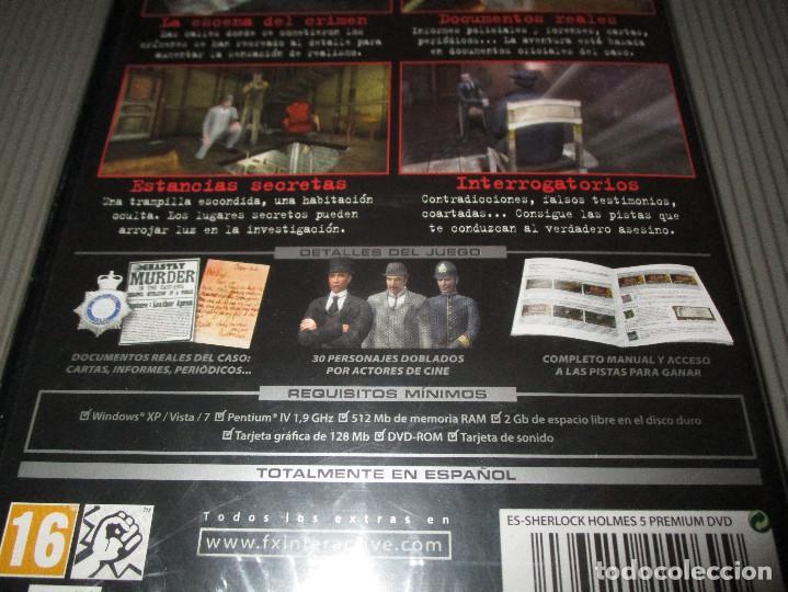 Videojuegos y Consolas: SHERLOCK HOLMES CONTRA JACK EL DESTRIPADOR - PC DVD ROM - PRECINTADO - FOCUS - Foto 3 - 109931299