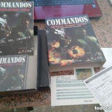 Videojuegos y Consolas: RAREZA COLECCIONISTAS ANTIGUO JUEGO PC EN CAJA CARTON GRANDE AÑOS 90 COMMANDOS UNICO EN TC. Lote 110019243