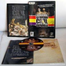 Videojuegos y Consolas: SOMBRAS DE GUERRA LA GUERRA CIVIL ESPAÑOLA EL PRIMER VIDEOJUEGO ETR ESTRATEGIA EN TIEMPO REAL PC DVD. Lote 110031019
