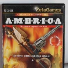 Videojuegos y Consolas: AMERICA ESTRATEGIA EN TIEMPO REAL DATA BECKER PARA PC CD-ROM DEL OESTE CD ROM CDROM. Lote 110031235