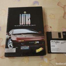 Videojuegos y Consolas: JUEGO PC DISKETTE 3 1/2 LOTUS ERBE CON CAJA. Lote 110401239