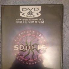 Videojuegos y Consolas: DVD - JUEGO INTERACTIVO - QUIERE SER MILLONARIO - 50 X 15 --REFM3E1. Lote 110680295