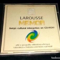 Videojuegos y Consolas: LAROUSSE MEMOR JUEGO CULTURAL INTERACTIVO EN CD-ROM EL PERIÓDICO 1997 WINDOWS 3.1 95 TRIVIAL. Lote 111067747
