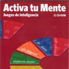 Videojuegos y Consolas: ACTIVA TU MENTE · JUEGOS DE INTELIGENCIA · 192 JUEGOS MULTIMEDIA · 12 CD-ROM. Lote 112162847