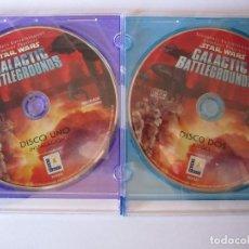 Videojuegos y Consolas: STAR WARS GALACTIC BATTLEGROUNDS LUCAS ARTS DISCO UNO INSTALACION DISCO DOS JUEGO AÑO 2001. Lote 113983239