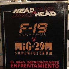 Videojuegos y Consolas: HEAD TO HEAD F-19 STEALTH FIGHTER V MIG-29M SUPERFULCRUM-DRO 1992-SIMULADOR VUELO DOBLE-COMO NUEVO. Lote 114392015