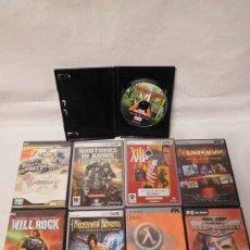 Videojuegos y Consolas: M69 LOTE DE NUEVE JUEGOS PARA PC EN SUS CARATULAS.. Lote 114665283
