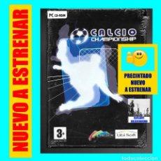 Videojuegos y Consolas: CALCIO CHAMPIONSHIP - PC CD ROM - ARCADE DE FÚTBOL - PRECINTADO NUEVO A ESTRENAR. Lote 115258935