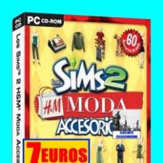 Videojuegos y Consolas: LOS SIMS 2 - MODA - ACCESORIOS - 2007 - EXPANSIÓN - EA GAMES - EXCELENTE - PC CD ROM. Lote 115471123