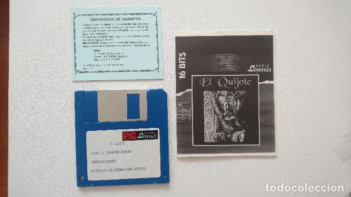 Videojuegos y Consolas: Juego El Quijote PC Dinamic disquete 3,5 - Foto 3 - 115871847