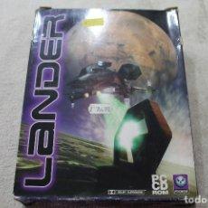 Videojuegos y Consolas: CAJA VACIA JUEGO PC LANDER SOLO CAJA. Lote 117424115