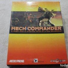 Videojuegos y Consolas: CAJA VACIA JUEGO PC MECH COMMANDER CON MANUAL DE INSTRUCCIONES. Lote 117425735