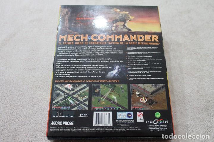 Videojuegos y Consolas: CAJA VACIA JUEGO PC MECH COMMANDER CON MANUAL DE INSTRUCCIONES - Foto 2 - 117425735