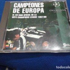 Videojuegos y Consolas: CD-ROM OFICIAL DE LA UEFA CHAMPIONS LEAGUE 1997/98 DIGITAL DREAMS MULTIMEDIA. Lote 118687255