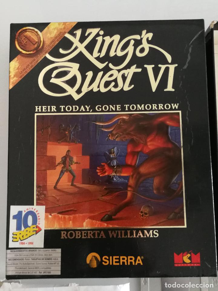 Videojuegos y Consolas: JUEGO PARA PC KINGS QUEST VI EN DISQUETES VERSIÓN ESPAÑOLA - Foto 2 - 118801719