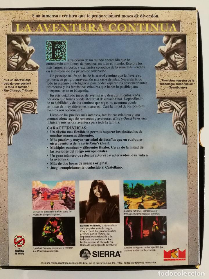 Videojuegos y Consolas: JUEGO PARA PC KINGS QUEST VI EN DISQUETES VERSIÓN ESPAÑOLA - Foto 4 - 118801719