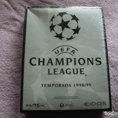 Videojuegos y Consolas: UEFA CHAMPIONS LEAGUE TEMPORADA 1998/99 PC BOX CAJA CARTON PRECINTADA. Lote 118808903