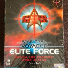 Videojuegos y Consolas: STAR TREK VOYAGER ELITE FORCE JUEGO PC VERSION ESPAÑOLA PRECINTADO. Lote 119006895