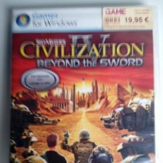 Videojuegos y Consolas: CIVILIZATION IV. SID MEIER´S. BEYOND THE SWORD. EXPANSION. JUEGO PC. . Lote 119460435