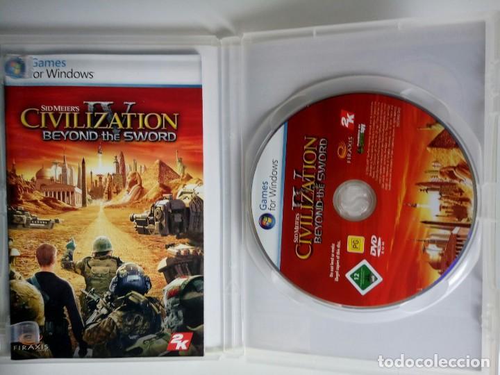 Videojuegos y Consolas: CIVILIZATION IV. SID MEIER´S. BEYOND THE SWORD. EXPANSION. JUEGO PC. - Foto 2 - 119460435