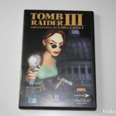 Videojuegos y Consolas: TOMB RAIDER III. ADVENTURES OF LARA CROFT. VIDEOJUEGO PARA PC.. Lote 119771167