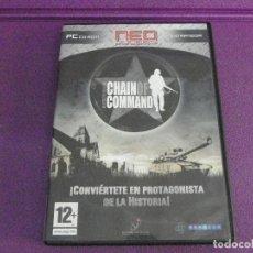Videojuegos y Consolas: CHAIN OF COMMAND PC CD-ROM JUEGO. Lote 120117799