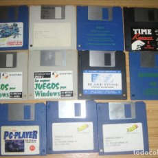 Videojuegos y Consolas: LOTE JUEGOS PC IBM (DISKETTES 3 1/2) SIN CAJA NI INSTRUCCIONES. Lote 120662647