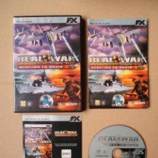 Videojuegos y Consolas: REAL WAR - REBELION EN RUSIA - JUEGO PARA PC - COMPLETO - CON PEGATINAS. Lote 263079785