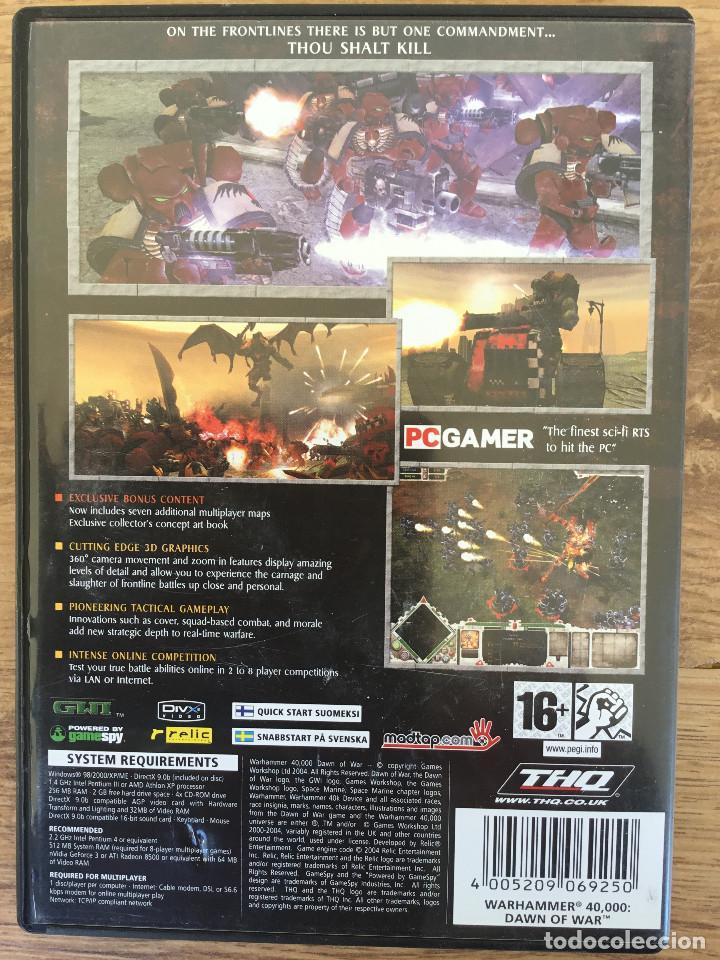 Videojuegos y Consolas: WHARHAMMER 40,000 : DAWN OF WAR - Juego PC ( 3 CD ROM ) Muy rare - Foto 2 - 121760935