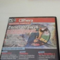 Videojuegos y Consolas: C-95G24 PC CD-ROM DIGITAL CAMERA ZONER DRAW 4 SEPTIEMBRE 2006. Lote 121908219