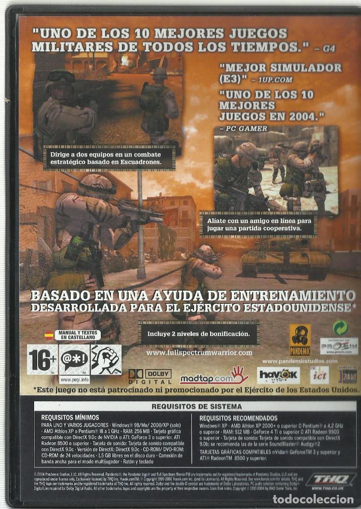 Videojuegos y Consolas: Full Spectrum Warrior - Foto 2 - 122951687