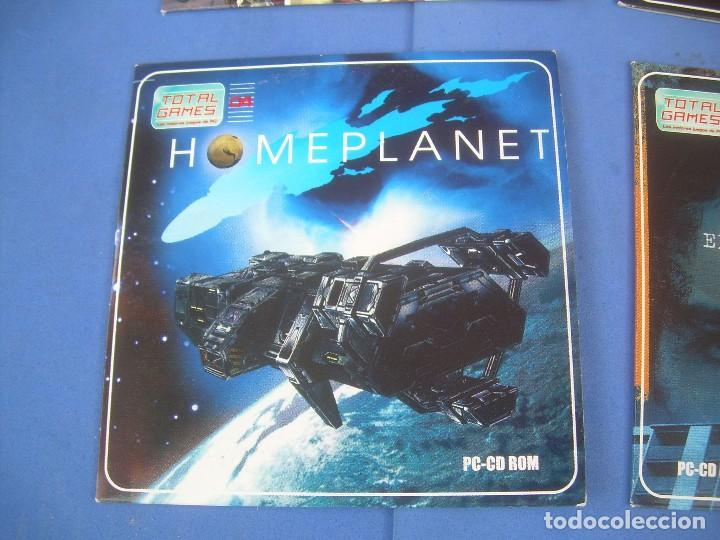 LOTE 4 JUEGOS TOTAL GAMES, PC CD ROM  JUANA DE ARCO, KOREA, HOMEPLANET,  C I D  2001-2004