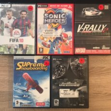 Videojuegos y Consolas: LOTE JUEGOS PARA PC. Lote 124441788