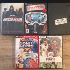 Videojuegos y Consolas: LOTE JUEGOS PARA PC + PELÍCULA DVD. Lote 124443356