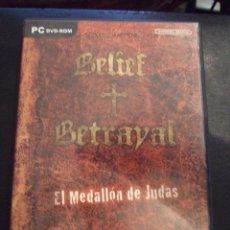 Videojuegos y Consolas: BELIEF BETRAYAL EL MEDALLON DE JUDAS - AVENTURA GRAFICA - ARTEMATICA 2008 - COMPLETO Y EN CASTELLANO. Lote 127598995