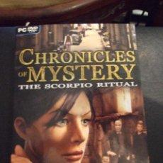 Videojuegos y Consolas: CHRONICLES OF MYSTERY SCORPIO RITUAL - AVENTURA GRAFICA - CITY 2008 - COMPLETO Y EN CASTELLANO. Lote 127681391