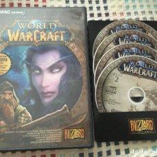 Videojuegos y Consolas: WORLD OF WARCRAFT PC MAC CD ROM AHORA EN CASTELLANO WOW 5 CDS PC CD ROM KREATEN. Lote 129245787