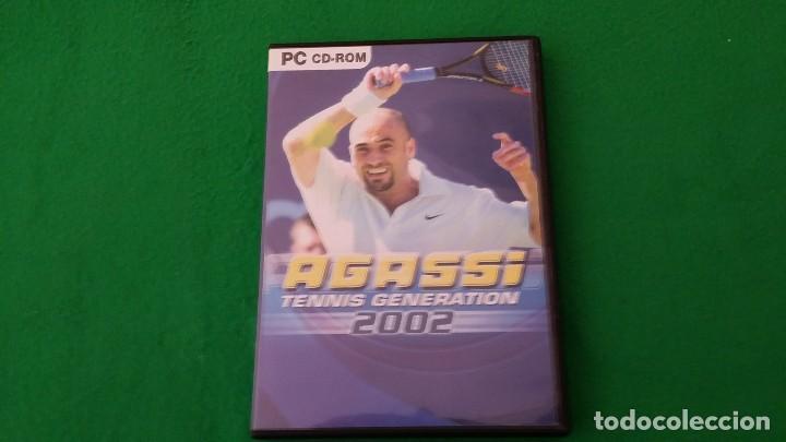 JUEGO PC – AGASSI – TENNIS GENERATION 2002 (Juguetes - Videojuegos y Consolas - PC)