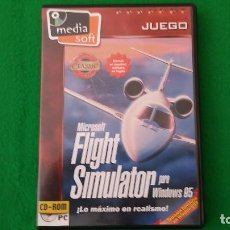 Videojuegos y Consolas: JUEGO PC – MICROSOFT FLIGHT SIMULATOR PARA WINDOWS 95 – MEDIA SOFT. Lote 129680815